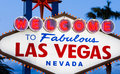 Welcome to fabulous las vegas sign the at dusk Royalty Free Stock Image