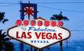 Welcome to fabulous las vegas sign the at dusk Royalty Free Stock Images