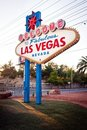 The Welcome to Fabulous Las Vegas sign on Las Vega Royalty Free Stock Photography