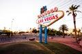 The Welcome to Fabulous Las Vegas sign on Las Vega