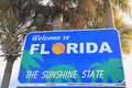 Welcome to Florida sign Royalty Free Stock Photo