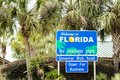 Welcome to Florida - The Sunshine State Royalty Free Stock Photo