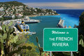 Welcome to the French Riviera sign Royalty Free Stock Image