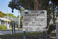 Welcome to hollywood north beach park sign fl usa december large welcoming visitors the large also lists hours and Royalty Free Stock Images
