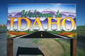 Welcome to Idaho Sign Royalty Free Stock Photo