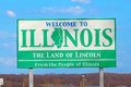 Welcome to Illinois Sign Royalty Free Stock Photo