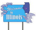 Welcome to Illinois Royalty Free Stock Photo
