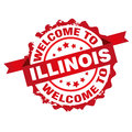 Welcome to Illinois tamp Royalty Free Stock Photo