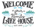 Welcome to the lake house sign Royalty Free Stock Photo