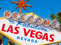 Welcome to Las Vegas Nevada sign on a sunny afternoon Royalty Free Stock Photography