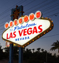 Welcome to las vegas sign fabulous in nevada usa Stock Photography