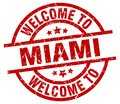 welcome to Miami stamp Royalty Free Stock Photo