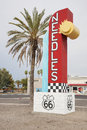 Welcome to Needles California sign Royalty Free Stock Photo