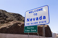 Welcome to nevada sign along the highway Royalty Free Stock Photography
