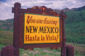 Welcome to New Mexico Sign Royalty Free Stock Photos