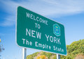 Welcome to New York State Sign Royalty Free Stock Photo