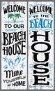 Welcome to our beach house sign Royalty Free Stock Photo