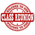 Welcome to our class reunion stamp grunge rubber on white vector illustration Stock Image