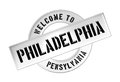 WELCOME TO PHILADELPHIA Royalty Free Stock Photos
