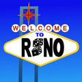 Welcome to Reno sign Royalty Free Stock Photo