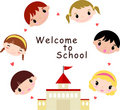 Welcome to school Royalty Free Stock Images