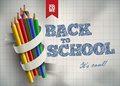 Welcome to school back vector illustration elements are layered separately in vector file easy editable Stock Photography