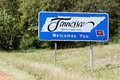 Welcome to tennessee a sign at the state line Royalty Free Stock Images