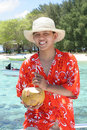 Welcome to tropical beach Stock Photos