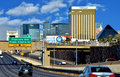 Welcome to vegas view of las from highway Stock Photo