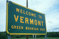 Welcome to Vermont Sign Stock Photos