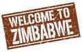 Welcome to Zimbabwe stamp
