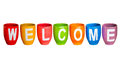 Welcome on white isolate background Stock Photography