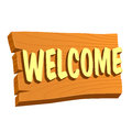 Welcome Wooden Sign Board Royalty Free Stock Photo