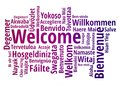WELCOME word cloud in different languages, concept background Royalty Free Stock Photo