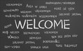 Welcome word cloud Royalty Free Stock Photo