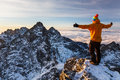 Welcoming a new day in Tatras