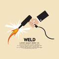Weld hand holding vector illustration Stock Images