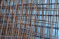 Welded mesh for concrete Royalty Free Stock Photo