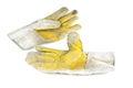 Welder gloves in my factory Stock Photo