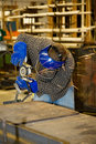 Welder Grinding Metal Stock Image