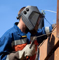 Welder during operation Stock Image