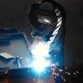 Welder With Welding Sparks
