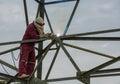 Welder Work At High Electric H...