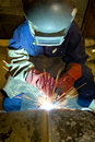 Welder working Royalty Free Stock Images