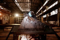 Welder working at  factory Royalty Free Stock Photo