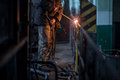 welder working at the factory Royalty Free Stock Photo