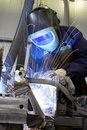 Welder working in industry Royalty Free Stock Photo
