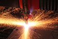 Welding the color of metal business and labor shipbuilding Royalty Free Stock Images