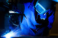 Welding machine operator Stock Photography