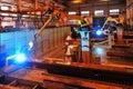 Welding Robot In The Work